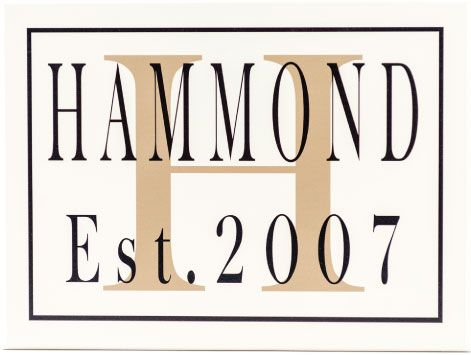 hammond style wooden monogram sign for wall decoration
