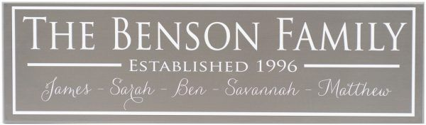 Established Sign Benson Style Charcoal