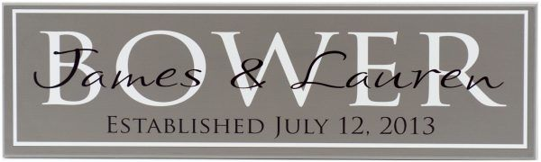 Established Sign Bower Style Charcoal