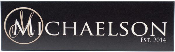 Established Sign Michaelson Style Black