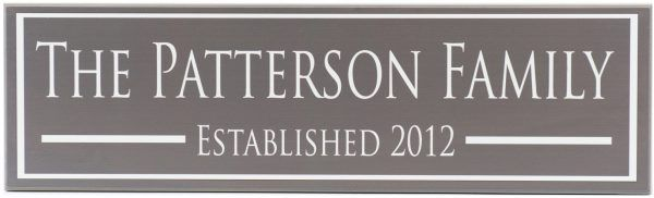 Established Sign Patterson Style Charcoal
