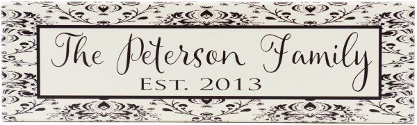 Established Sign Peterson Style Black