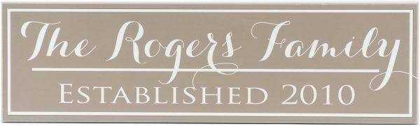Established Sign Rogers Style Light Brown