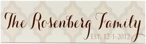Established Sign Rosenburg Style Taupe