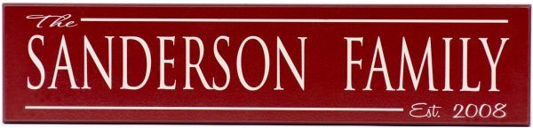 Established Sign Sanderson Style Red