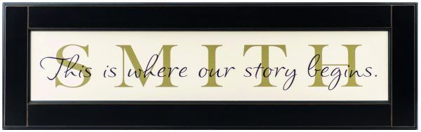 Wood Frame Sign Customized Family Name Sign American