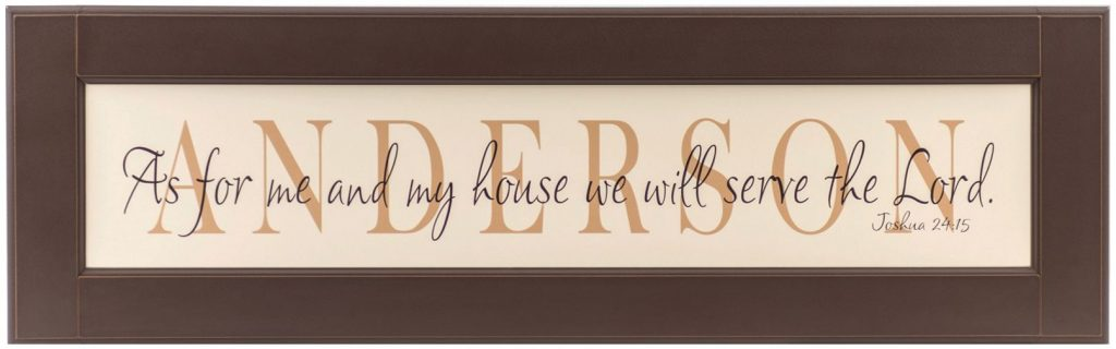 Personalized wood framed Sign Chocolate Frame Anderson Style ...