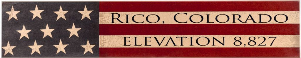 Elevation wood sign with the city and state on an Americana Patriotic Flag Background rustic look