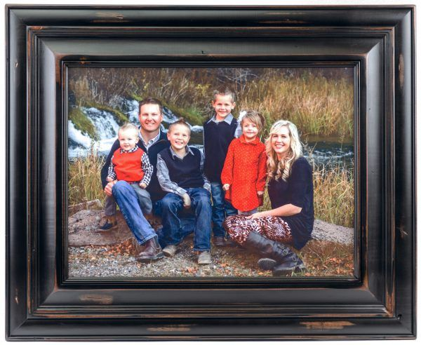 Personalized Wood Photo Large Family Portrait Knotty