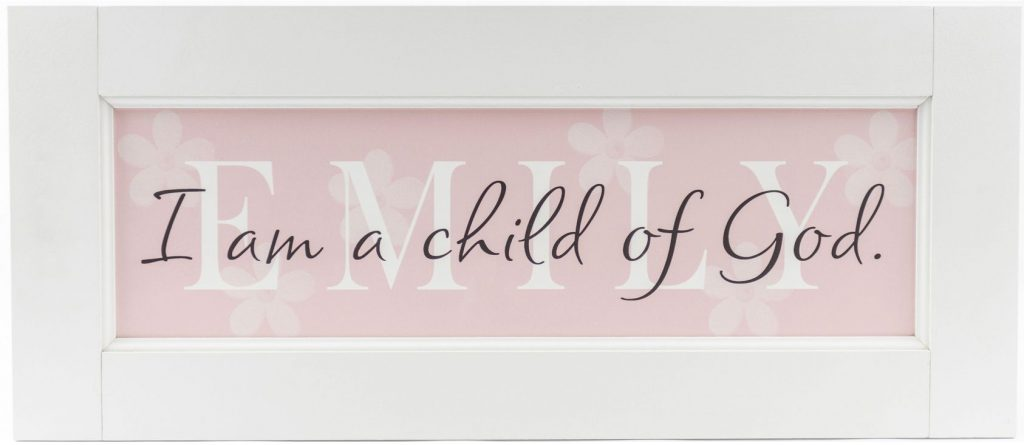 Girls Room Decoration Personalized Wood Framed Name Sign