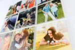 a set of nine personalized pictures on wood square with personalized text