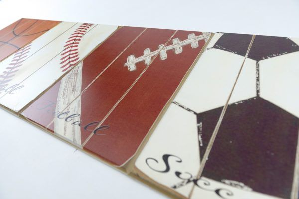 Sports Plaque Room Decor Wood