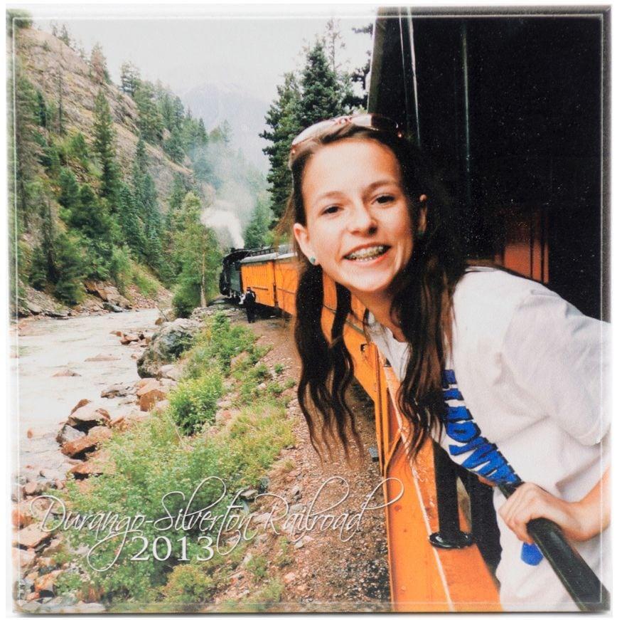 Wood print photo of family trip to Durango Silverton railroad