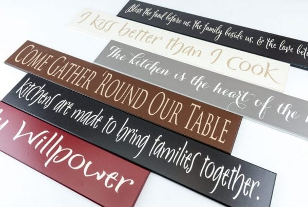 Wooden Kitchen Signs