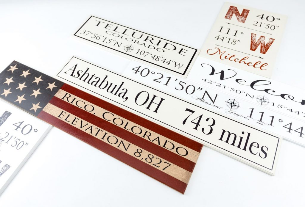 Latitude And Longitude Signs Customized American Woodcrafts